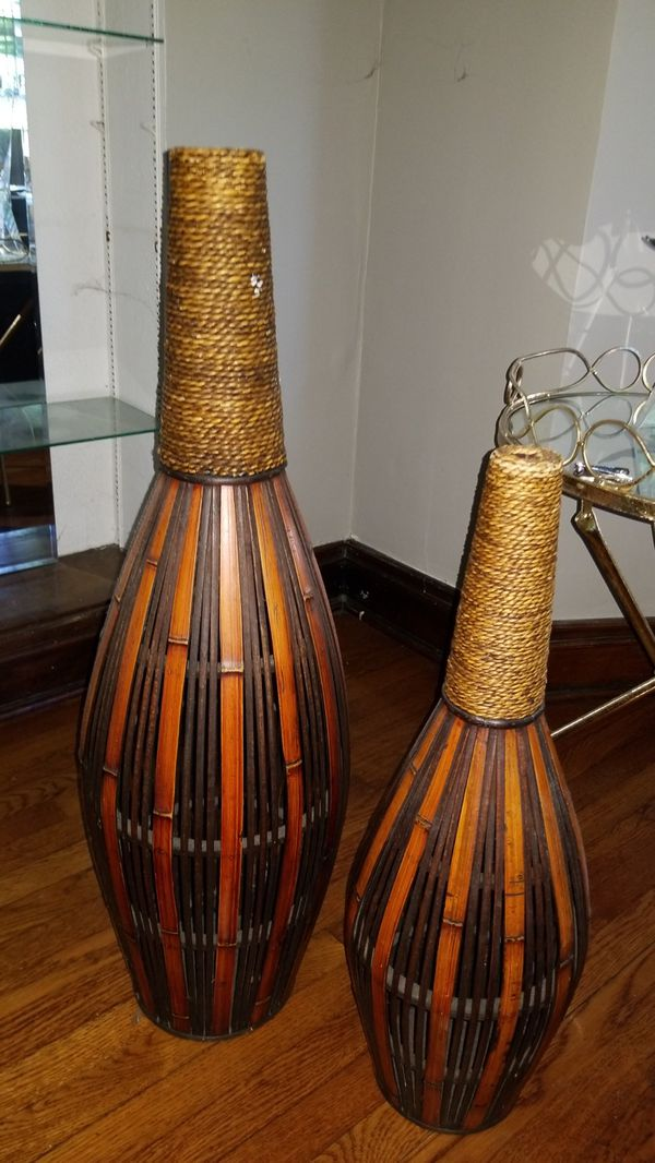 Bamboo Floor Vase For Sale In Chicago Il Offerup