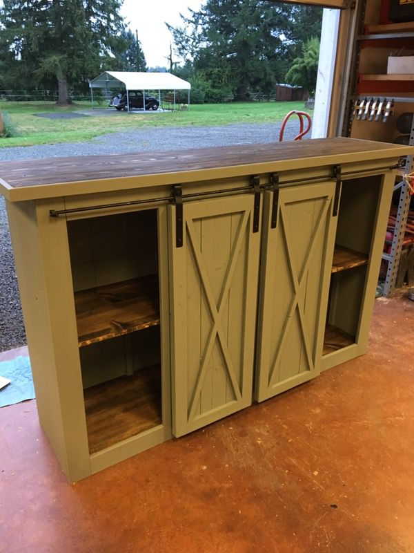 Sliding Barn Door Entertainment Console For Sale In Monroe Wa Offerup