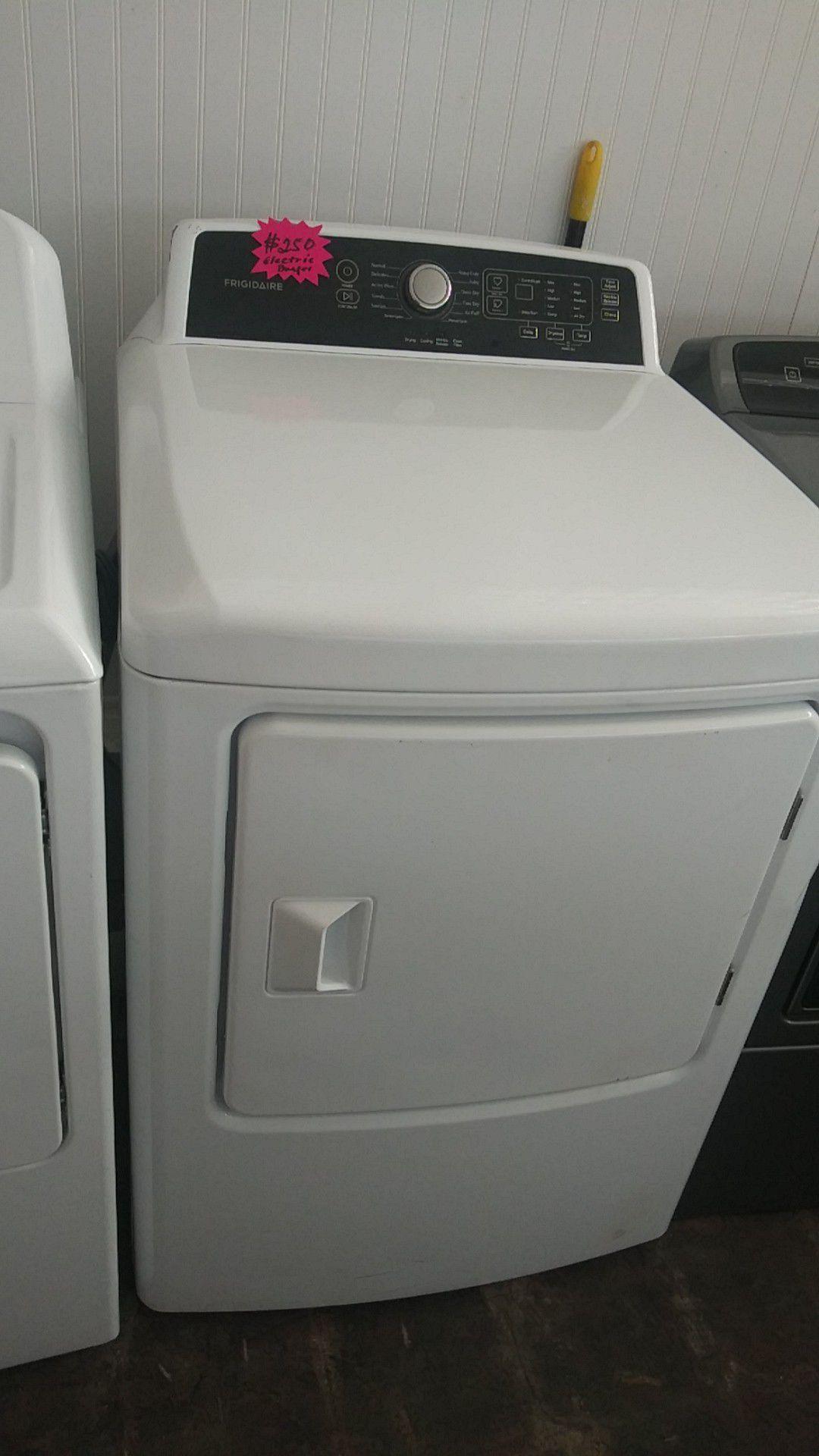Frigidaire top load dryer