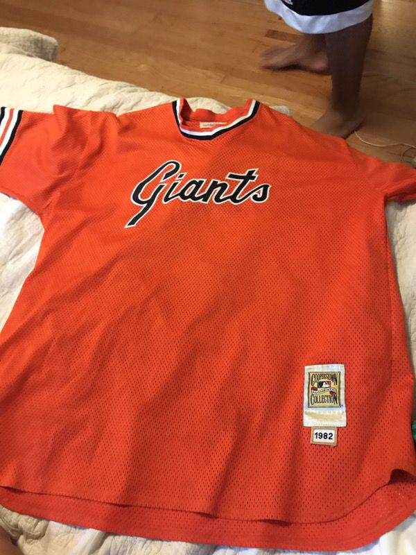 separation shoes ec984 151cf Authentic Mitchell & Ness Giants jersey for Sale in South San Francisco, CA  - OfferUp