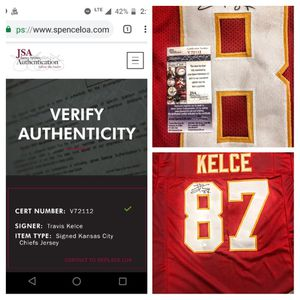 Scroll through photos. Certified signed chiefs Jersey. Serial #d. Verified onIine. New for Sale in Kansas City, MO