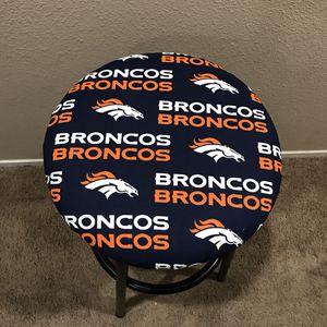Denver Broncos round bar stool cover for Sale in Las Vegas, NV