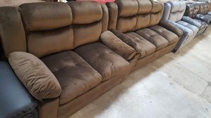 Brand New Brown Microfiber Sofa + Love Seat for Sale in Silver Spring, MD
