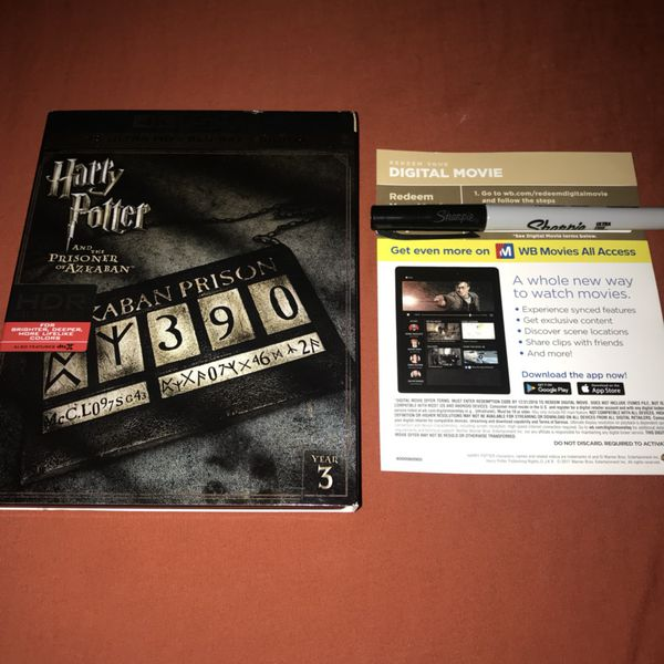 4K Bluray Digital Copy of Harry Potter and the Prisoner of Azkaban for Sale  in Santa Ana, CA - OfferUp