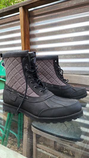 Photo Polo Ralph Lauren White Hill Quilted Duck Boots
