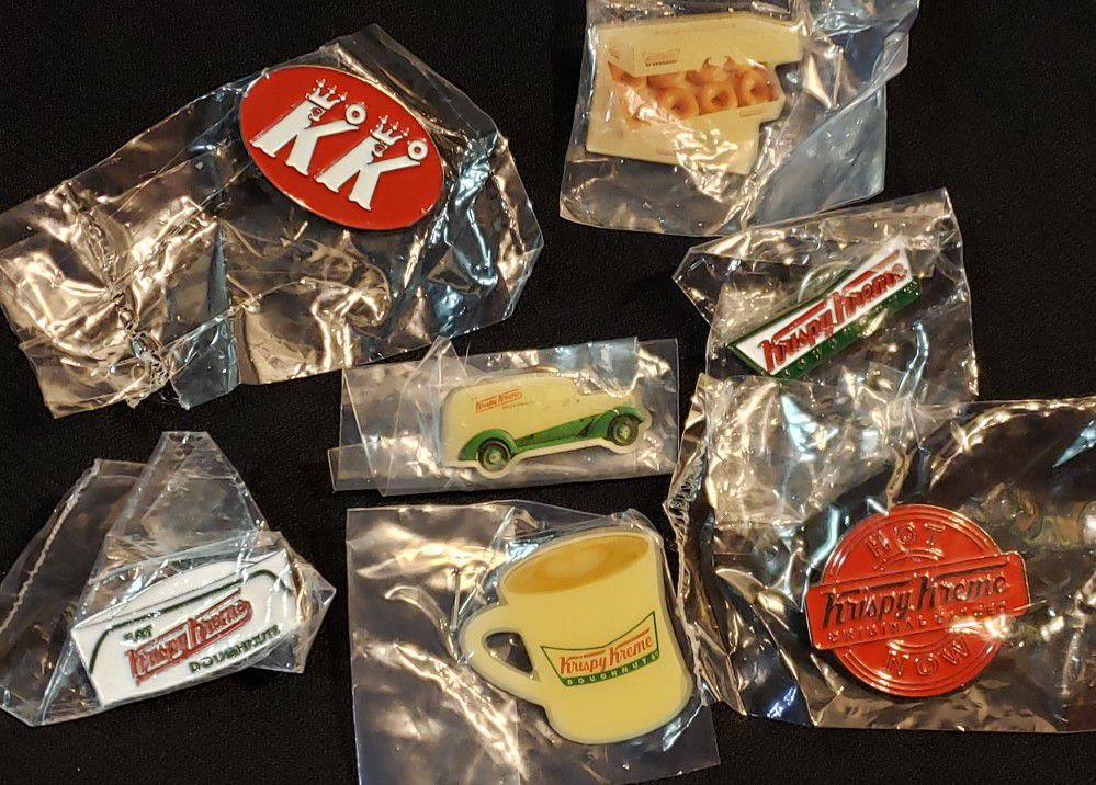 New•Krispy Kreme Bundle of 7 Pins