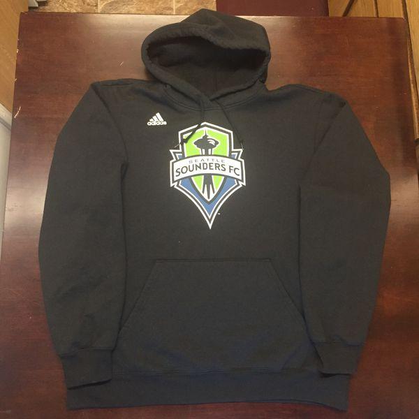 newest 140e7 50114 Seattle Sounders sweatshirt sounders hoodie black Sounders hoodie Sounders  FC Sounders soccer Sounders jersey for Sale in Seattle, WA - OfferUp