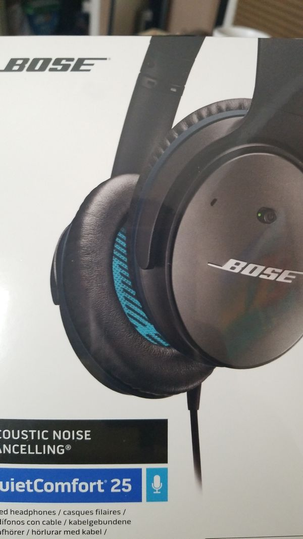 2fe26e27c2a BOSE Quiet Comfort 25 Noise Cancelling Headphones NIB for iPhone for ...