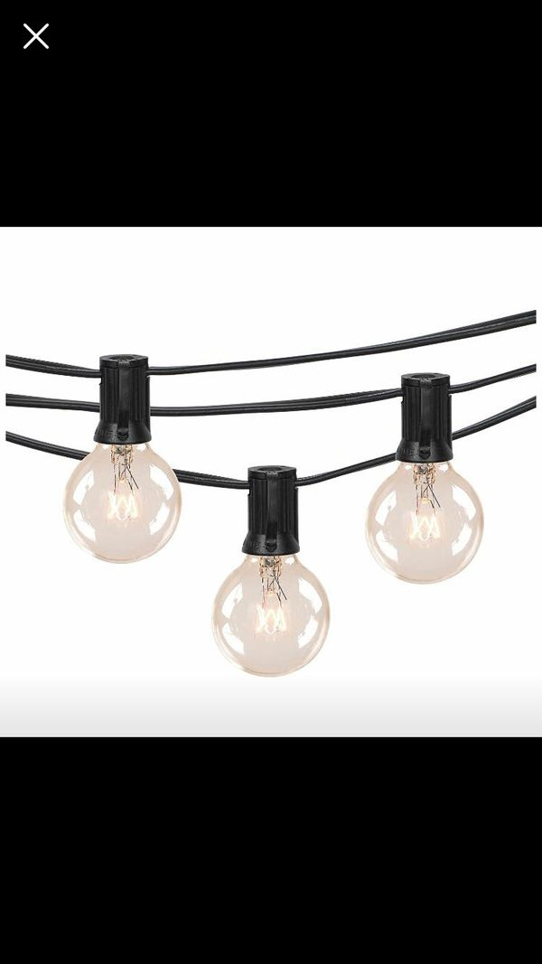String Lights 100 Ft With Bulbs Cafe Bistro Perfect For Outdoor Indoor Events Weddings