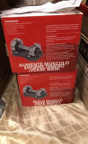 Two adjustable weights 5-25 Ibs. (Never used it) for Sale in Fairfax, VA