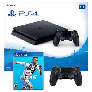 PS4 with 2 controller , FIFA 19 for Sale in Alexandria, VA