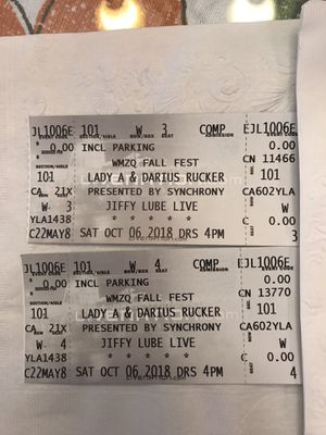 WMZQ Fall Fest tickets - 2 section 101 for Sale in Ashburn, VA