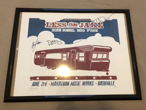 Less Than Jake/Reel Big Fish Tour Poster for Sale in Nashville, TN