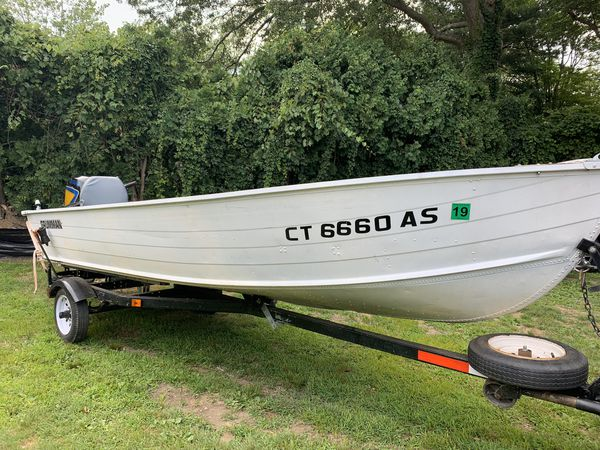 16 ft aluminum boat - 40 hp