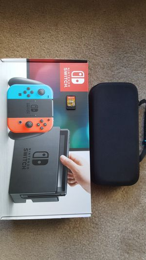 Nintendo Switch 32 GB console with Zelda and carrying case (almost brand new) for Sale in Chantilly, VA