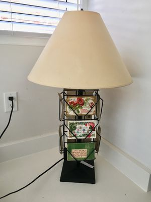 Lamp with antique postcards for Sale in Washington, DC