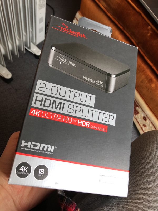 HDMI SPLITTER 2-OUTPUT // 4k Ultra HD & HDR Compatible for Sale in  Spanaway, WA - OfferUp