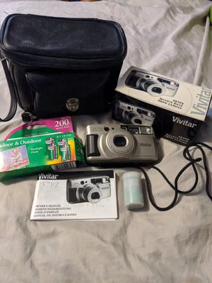 Photo Vivitar Series 1 357PZ QD 35mm Point & Shoot Film Camera with the original Box, Manual, 5 Rolls of Film and the Black Case
