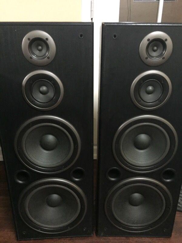 "TECHNICS --SB-A36 3-way Floor SPEAKERS --39"" tall for Sale"