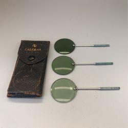Vintage AO American Optical Calobar green lens with case  Thumbnail