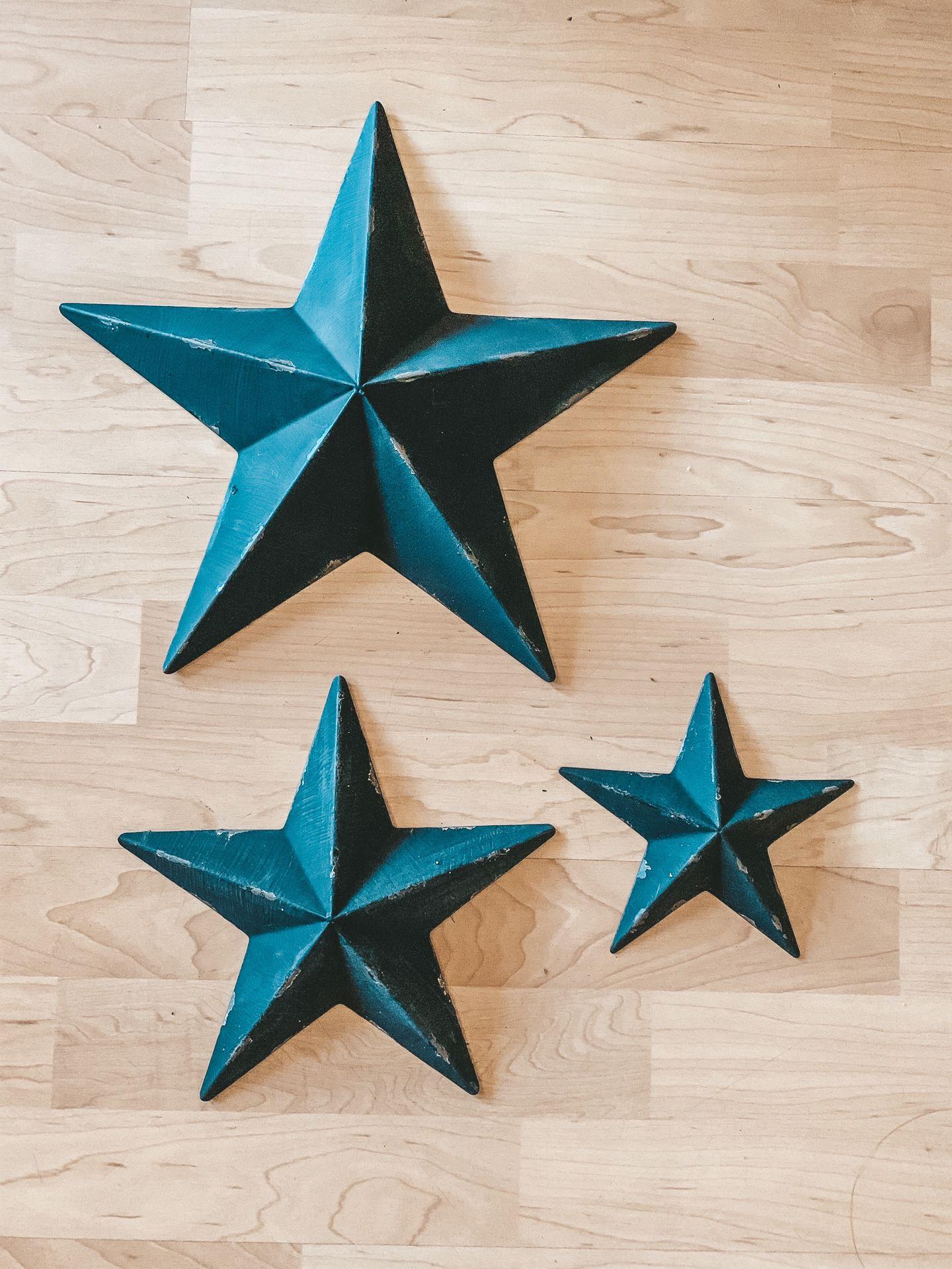 Rustic Metal Black Stars - Home Decor