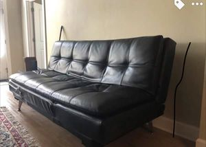 Black Leather Futon Couch For In New Orleans La