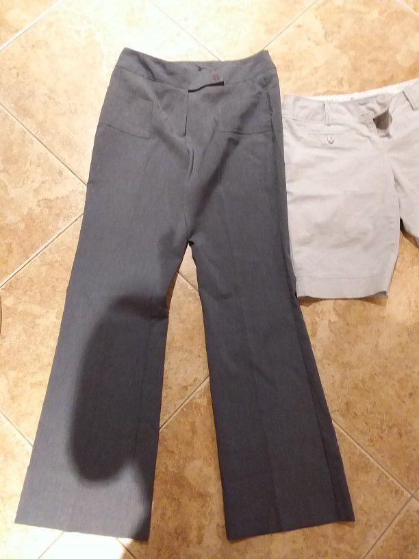 7 Medium Large Wetseal Pants Shorts Career Work Suit Pants Khaki Bundle #c