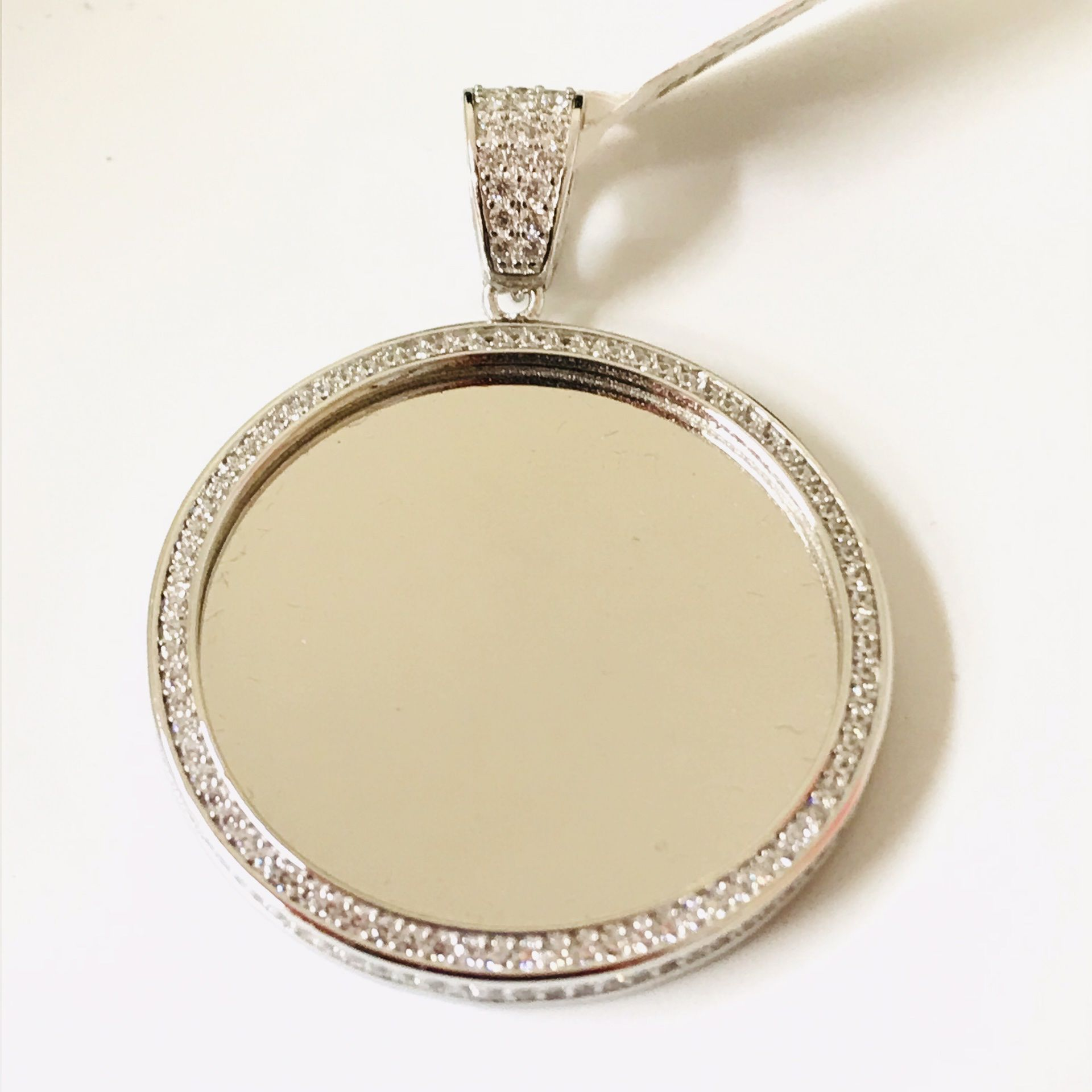 925 sterling Silver CZ Picture Charm Available With Picture On Special Sale