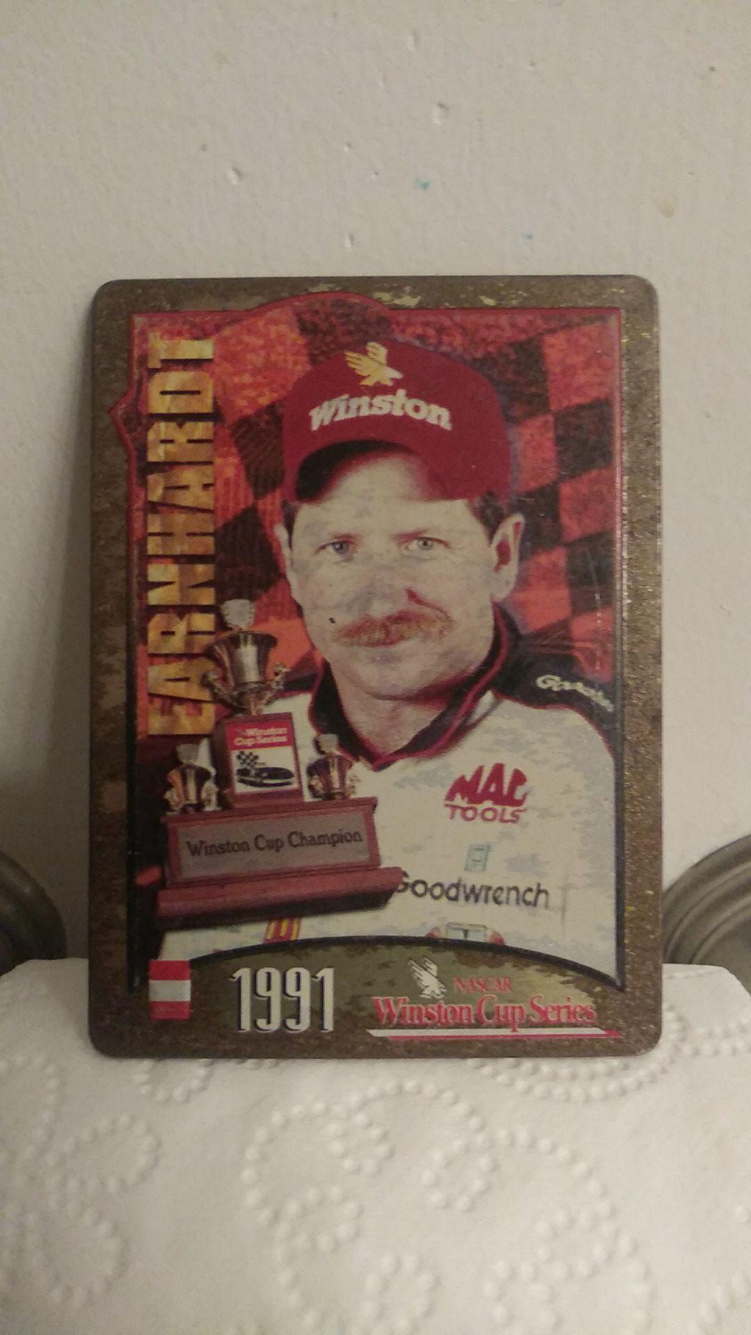 1991 Dale Earnhardt (Metal NASCAR Card)