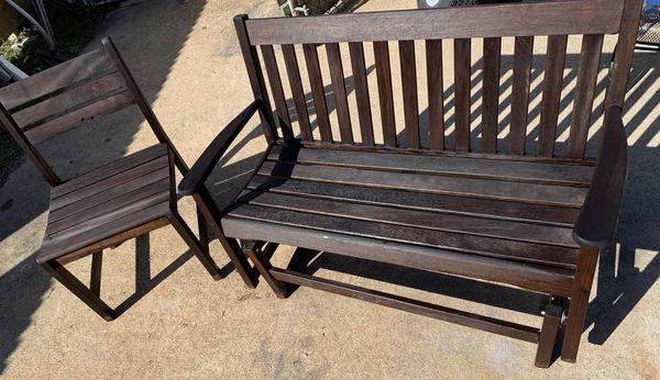Miraculous Litchfield Bench Glider Rocker Xl Chair By Tyndall Creek Machost Co Dining Chair Design Ideas Machostcouk