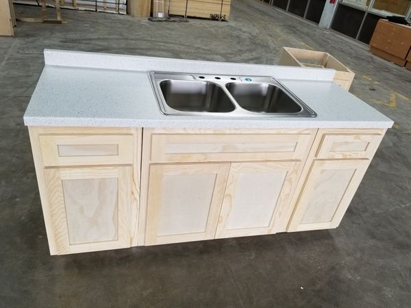 6 foot cabinet counter top sink kitchen cabinets for Sale ...