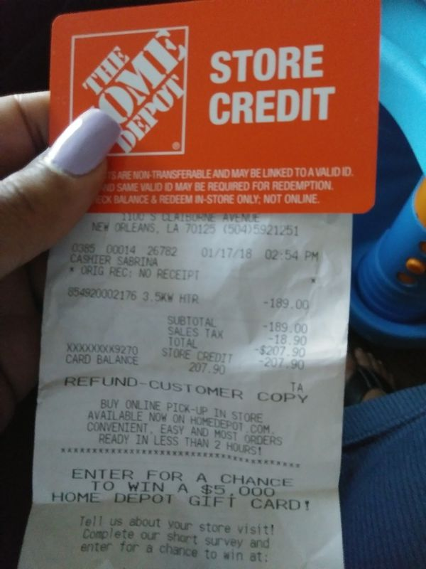 Home Depot Store Credit For Sale In Al Us Offerup