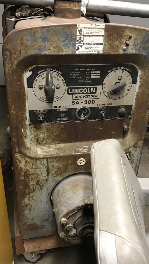 SA 200 Lincoln welder (Project Machine) for Sale in Carson, CA - OfferUp