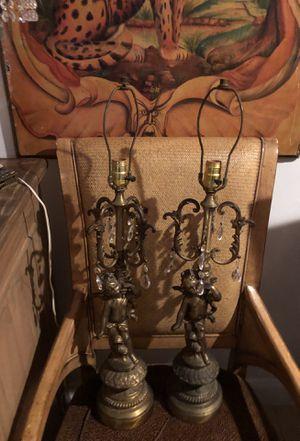 Antique cherub lamps for Sale in Oakland Park, FL