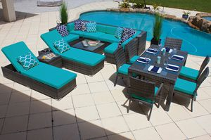 NEW 17 Piece Outdoor Patio Furniture Set with Cushions Aluminum Frame for Sale in Miami, FL