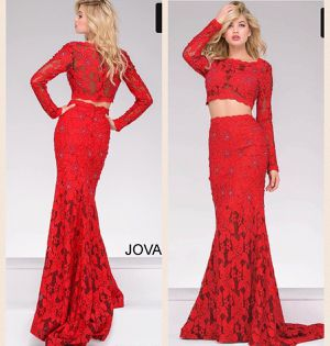 Jovani Red Lace Two Piece Long Sleeve Prom Dress for Sale in Fairfax, VA
