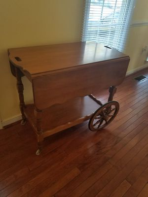 Wooden folding tea cart for Sale in Richmond, VA