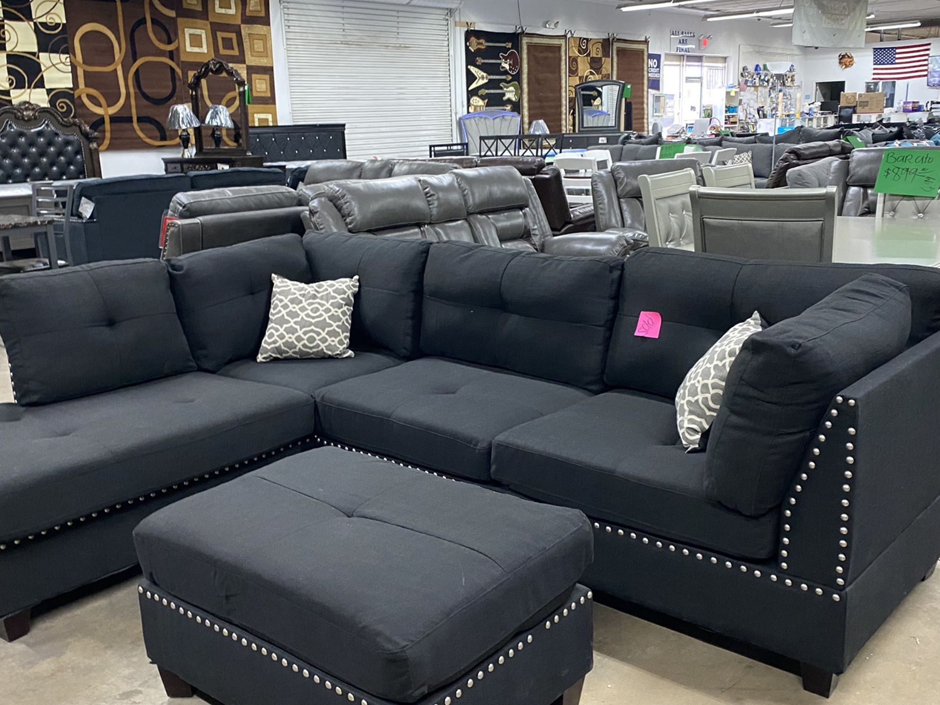 Brand New Sectional With Ottoman $675 Same Day Delivery