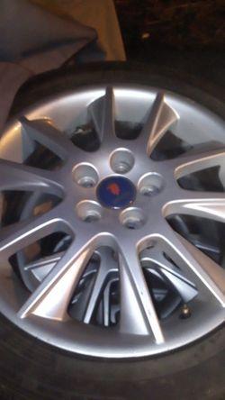 Saab 5 lug 90%tires and rims Thumbnail