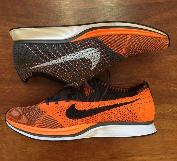 brand new 22cb1 e0891 Nike Flyknit Racer Total Orange Size 9