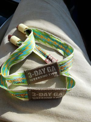 2 ACL Wristbands (loose & unregistered) for Sale in Austin, TX