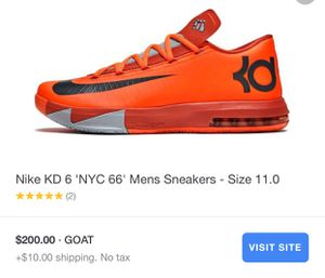fcdf482e505 Nike KD 6  NYC 66  men s shoes - size 16 for Sale in Charlotte