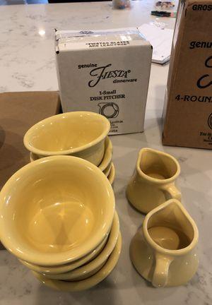 Yellow Fiesta Dinnerware for Sale in Manassas, VA