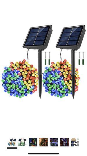 Photo Solar Powered String Lights, 2 Pack 33 ft