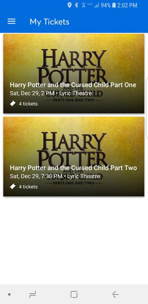 Harry Potter and the Cursed Child tickets for Sale in New York, NY