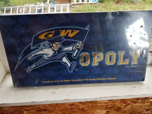 Monopoly game GW university edition for Sale in Manassas Park, VA