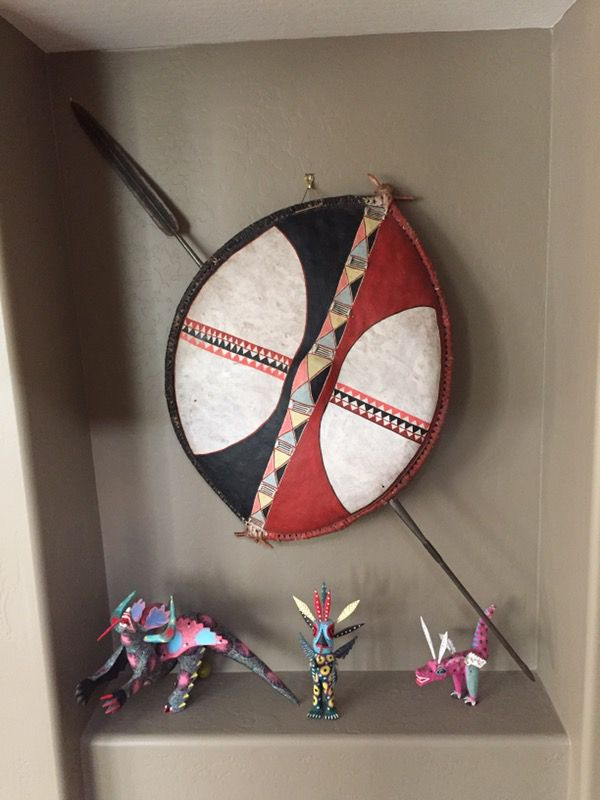 African shield with spear for Sale in Cave Creek, AZ - OfferUp