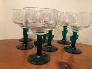 Cactus Stem Margarita Glasses Set of 7 for Sale in Kannapolis, NC