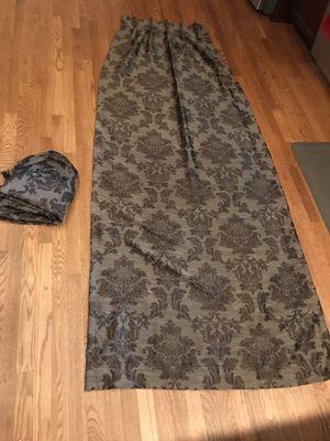 Blackout brown damask curtains for Sale in Burke, VA