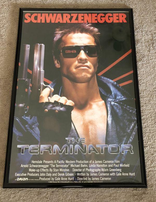 Vintage Terminator Movie Poster 40x27 For Sale In El Mirage Az